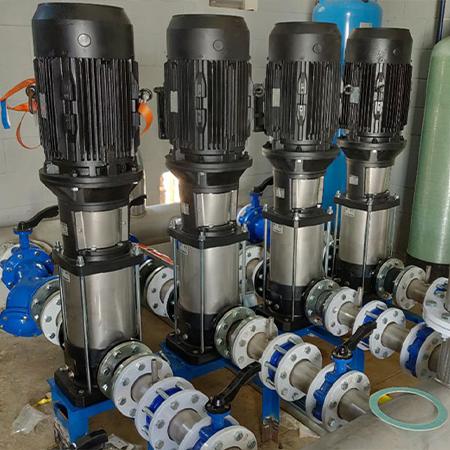 Instalación de bombas de agua potable