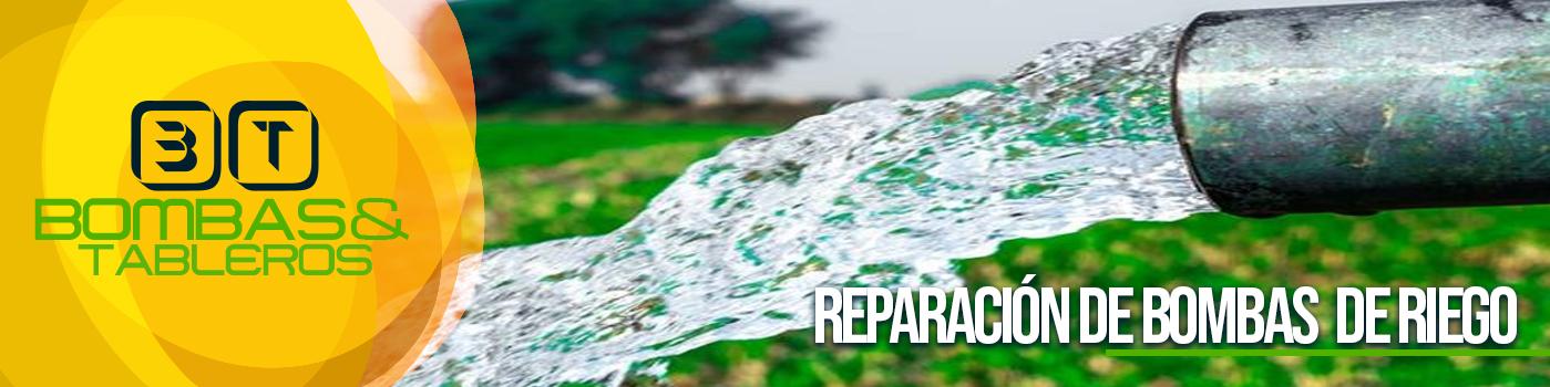 Reparación bombas de riego