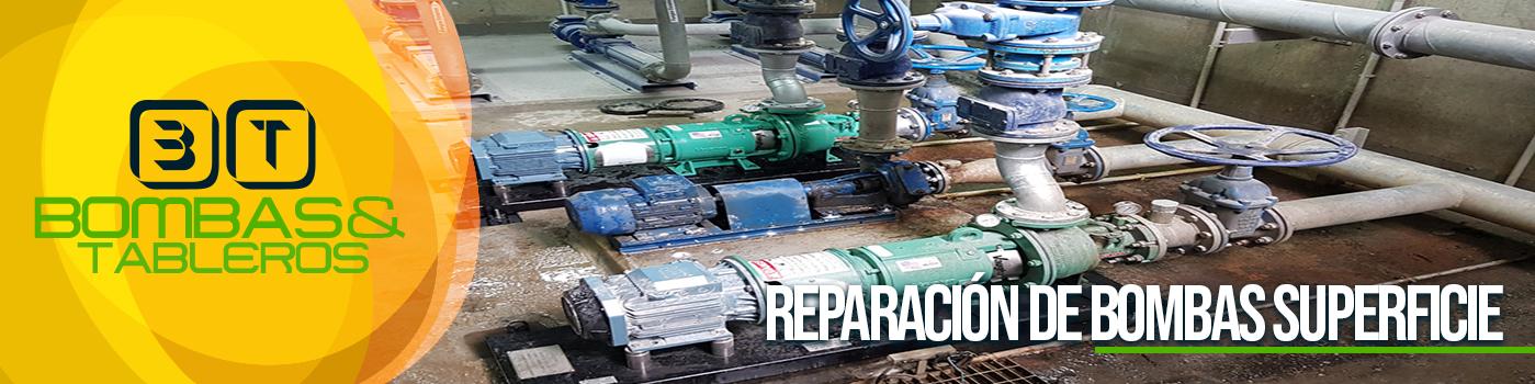 Reparación de bombas de superficie