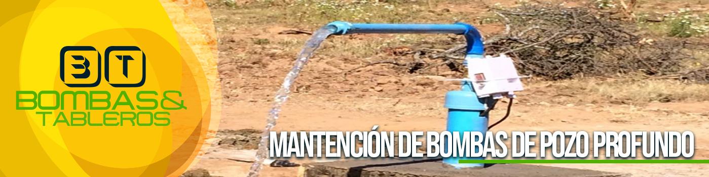 mantención de bombas de pozo profundo